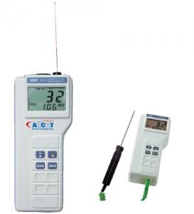 Thermomètre infrarouge et entrée sonde type K