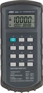 Thermomètre numérique portable, type K/J, à double entrées