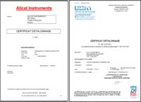 Certificzat d'étalonnage
