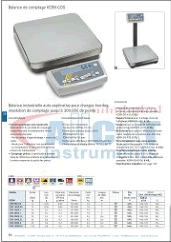 Documentation pdf pour CDS - Balance plate-forme